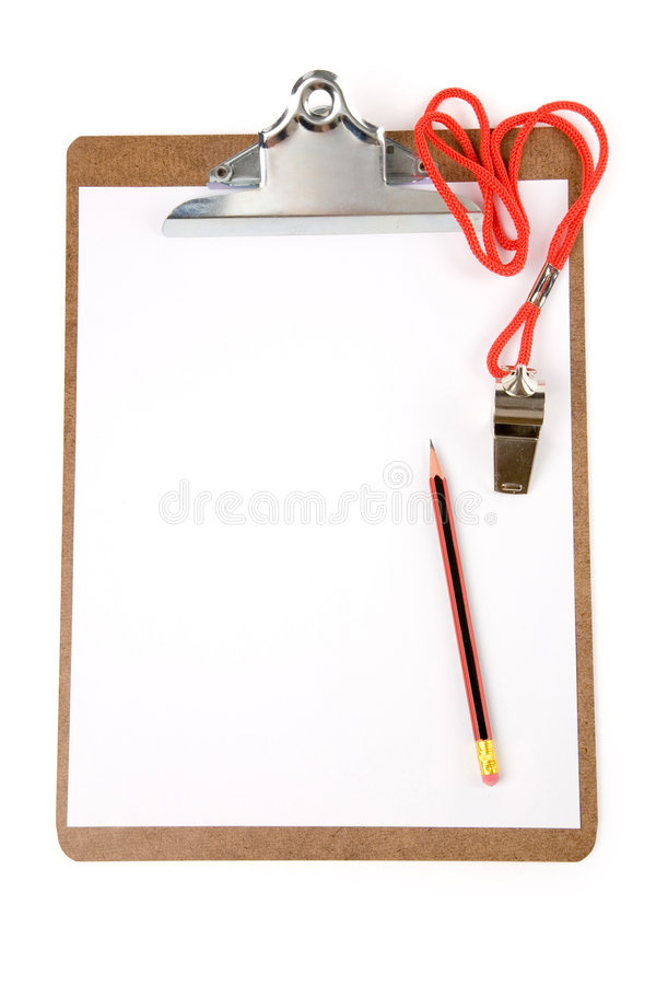 Free Clipboard And Whistle Stock Photo - 2968040