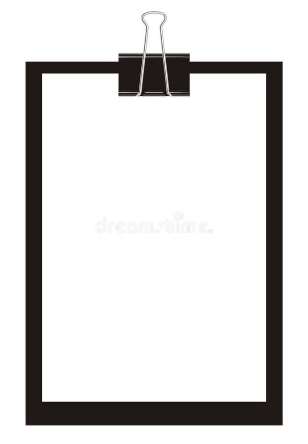 Clipboard black. Black clipboard with blank paper. Vector (EPS 8 vector illustration