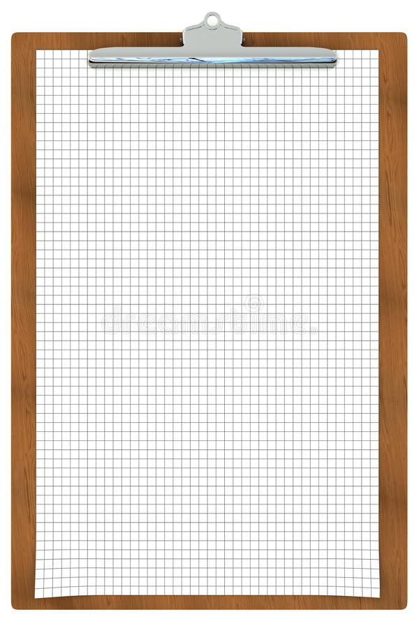Clipboard With Checkered Paper Stock Photography