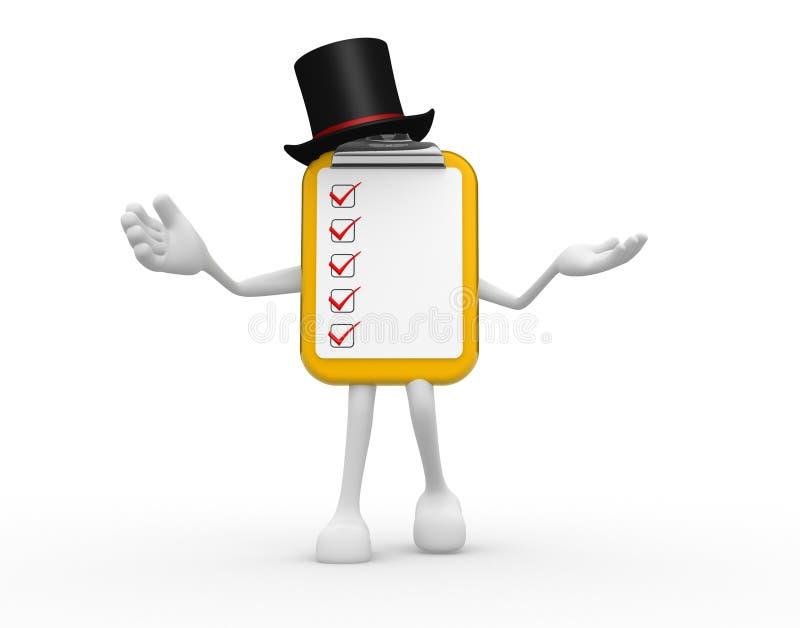 Clipboard and checklist stock illustration