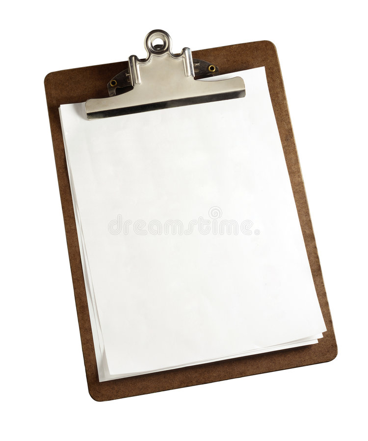 Download Clipboard With Clipping Path Stock Images - Image: 4966324