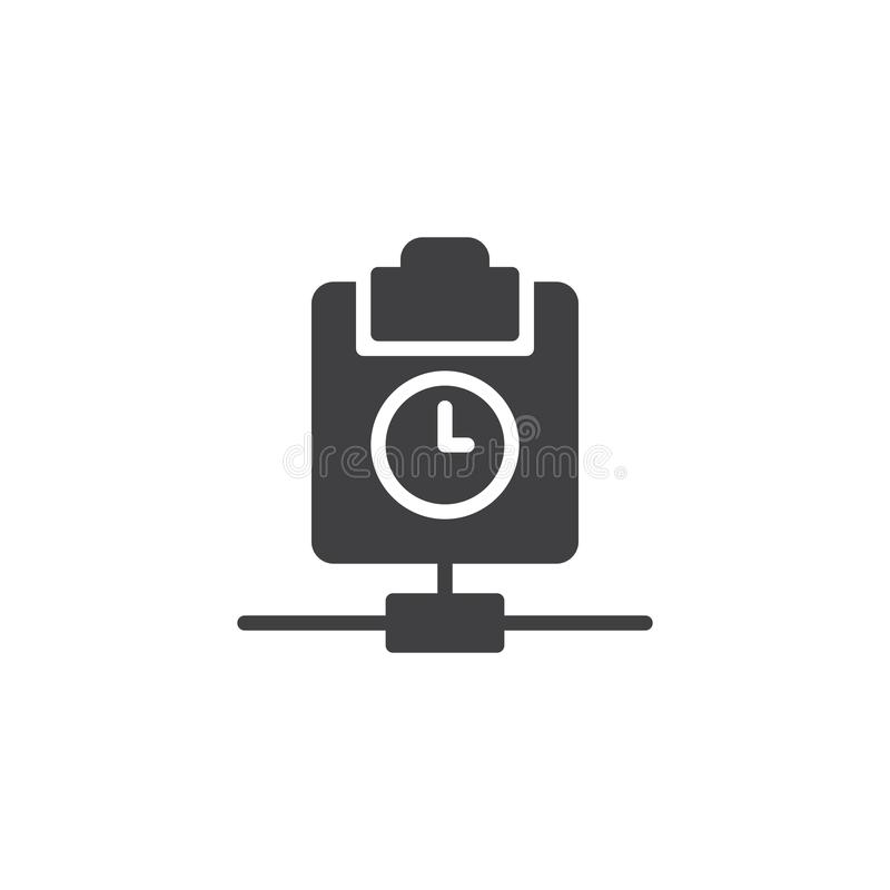 Clipboard with clock icon vector stock illustration