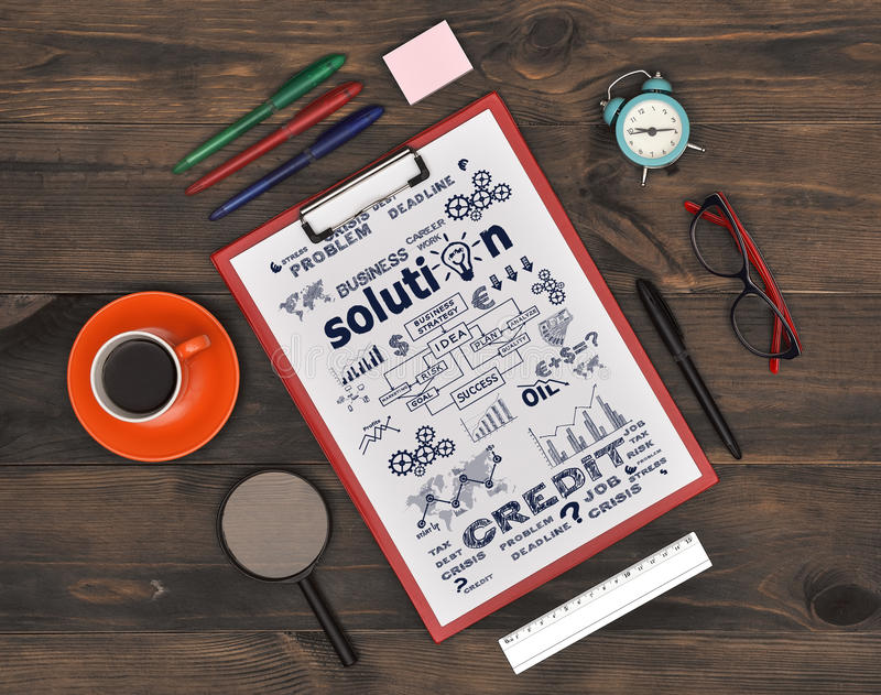 Download Clipboard With Drawing Business Concept Stock Image - Image: 83703943