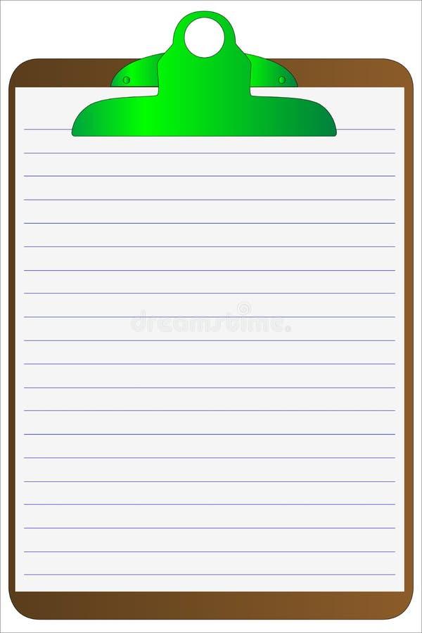 clipboard fodrat papper vektor illustrationer