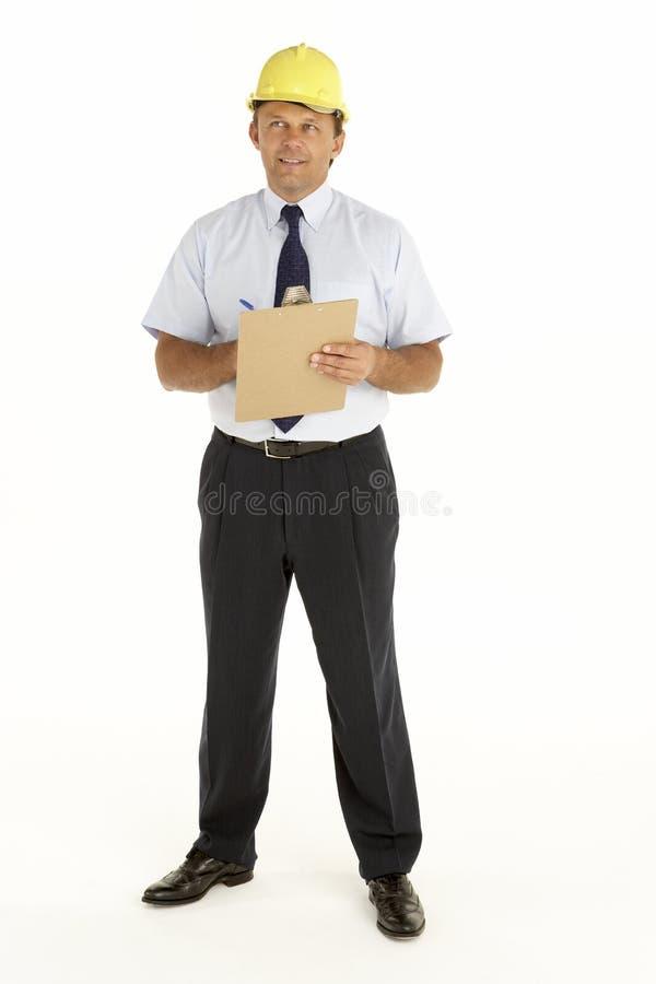 clipboard foreman portrait writing στοκ εικόνες με δικαίωμα ελεύθερης χρήσης