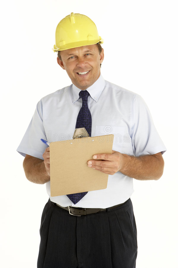 clipboard foreman portrait writing στοκ φωτογραφία με δικαίωμα ελεύθερης χρήσης