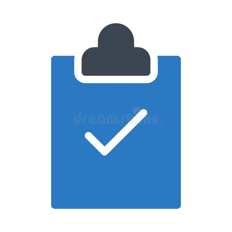 Clipboard glyph colour vector  icon vector illustration
