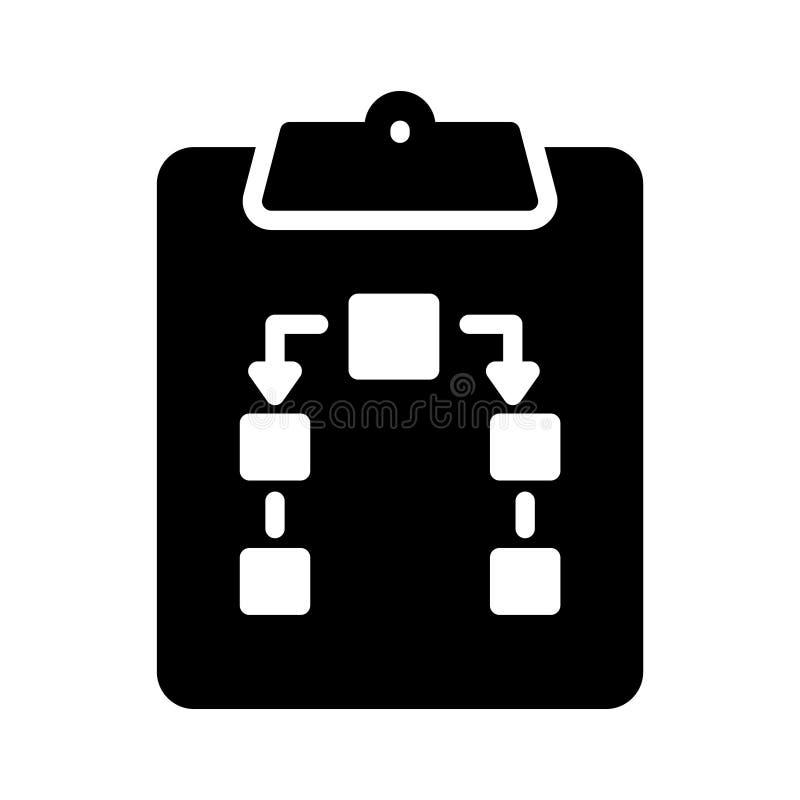 Clipboard glyph flat vector icon royalty free illustration