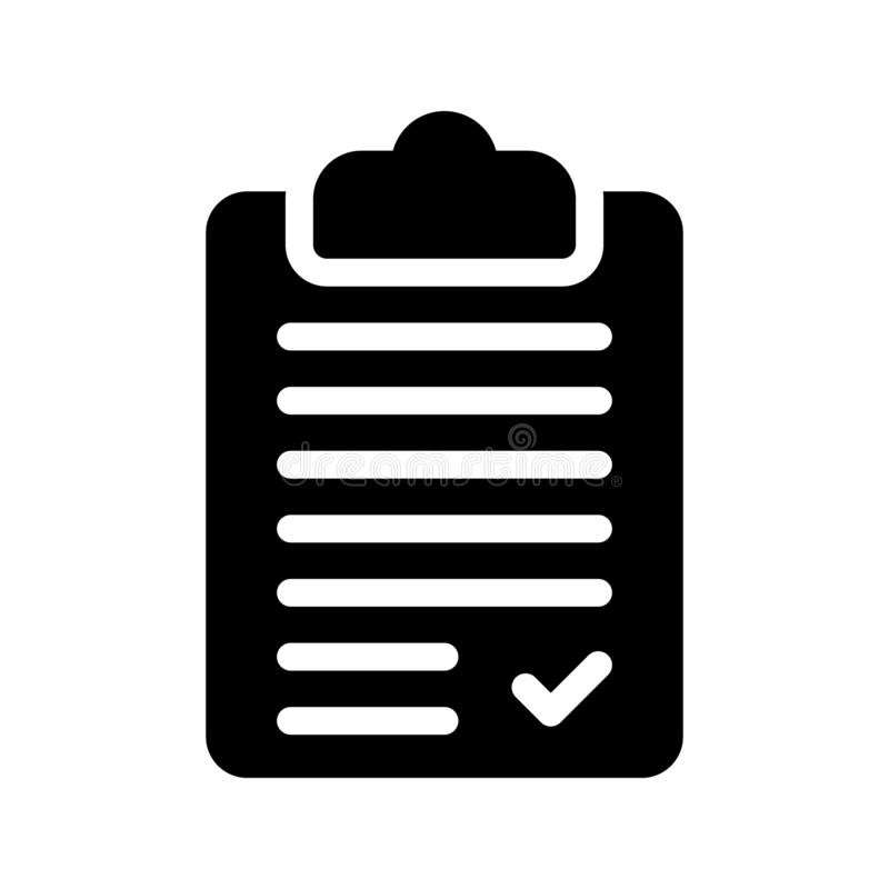 Clipboard glyph vector icon vector illustration