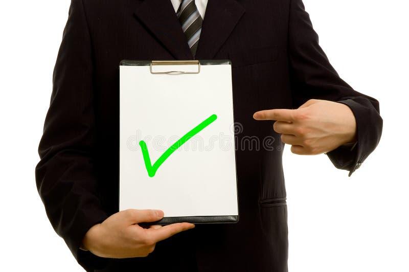 clipboard green tick стоковые фото