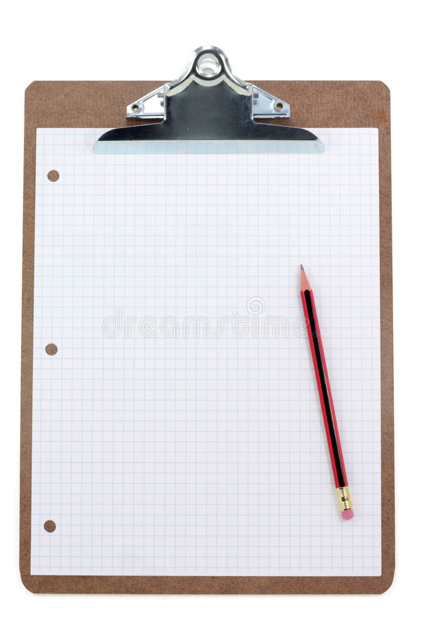 Download Clipboard And Grid  Paper Stock Photography - Image: 1708212