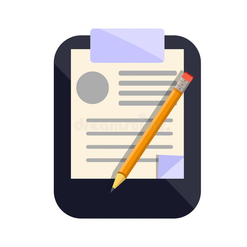Clipboard icon for notes vector illustration