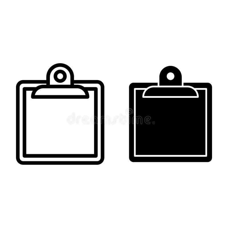 Clipboard line and glyph icon. Note vector illustration isolated on white. Board outline style design, designed for web vector illustration