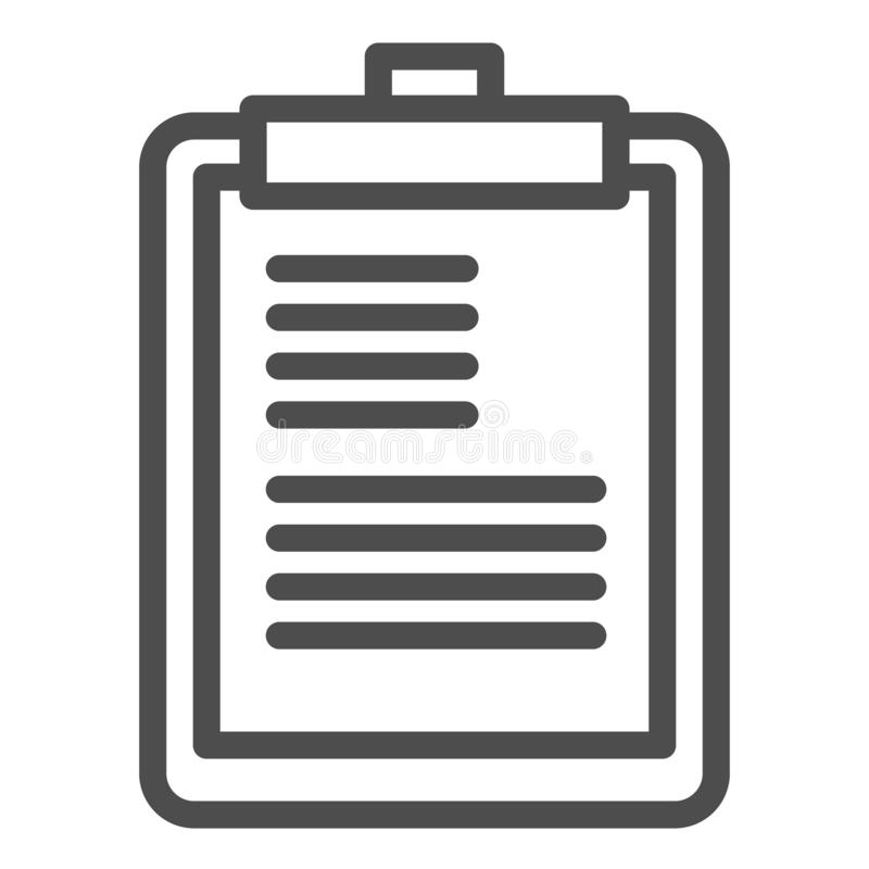 Clipboard line icon. Scheduler vector illustration isolated on white. Notepad outline style design, designed for web and. App. Eps 10 stock illustration