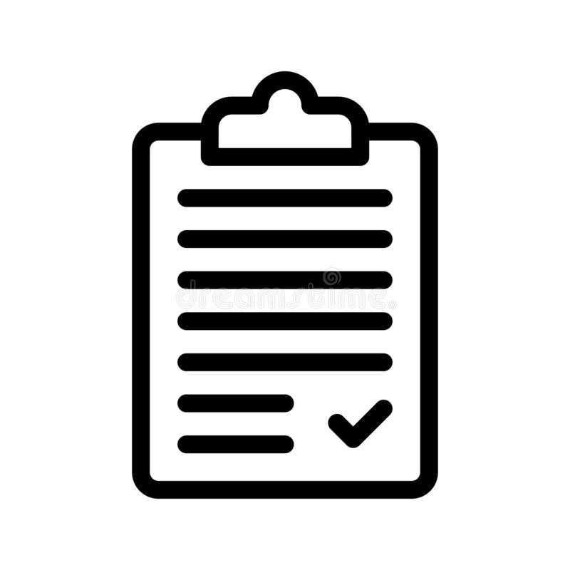 Clipboard line vector icon royalty free illustration