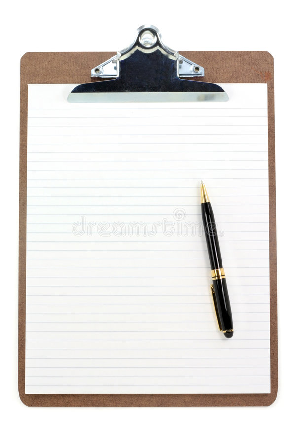 Clipboard And Lined Paper Royalty Free Stock Images