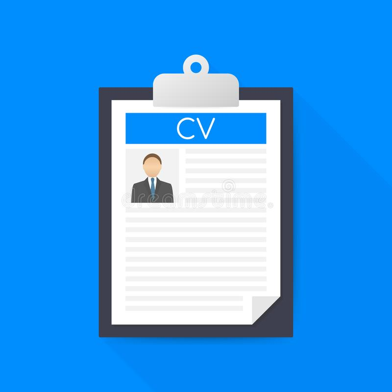 application form on clipboard stock illustration