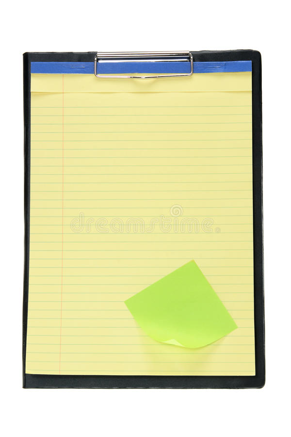 Clipboard with Note Pad stock photos