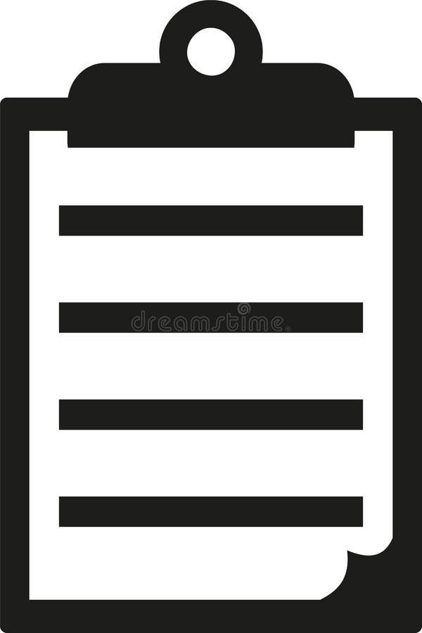 clipboard paper icon stock vector illustration of icon 107095589 rh dreamstime com clipboard free vector clipboard free vector