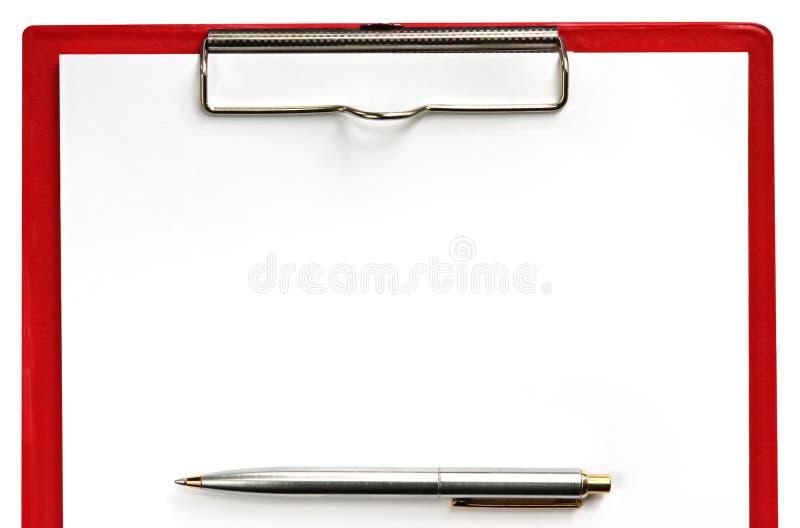Clipboard with Pen stock photos