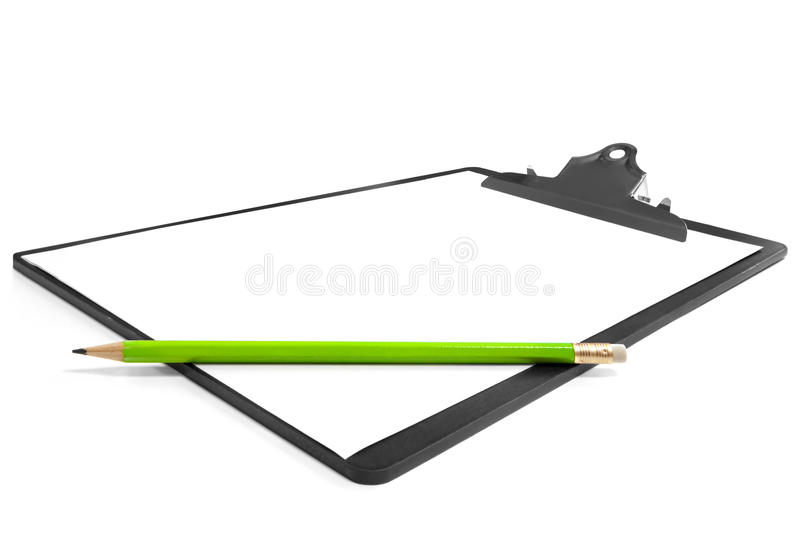 Download Clipboard with Pencil stock image. Image of paper, horizontal - 10738735