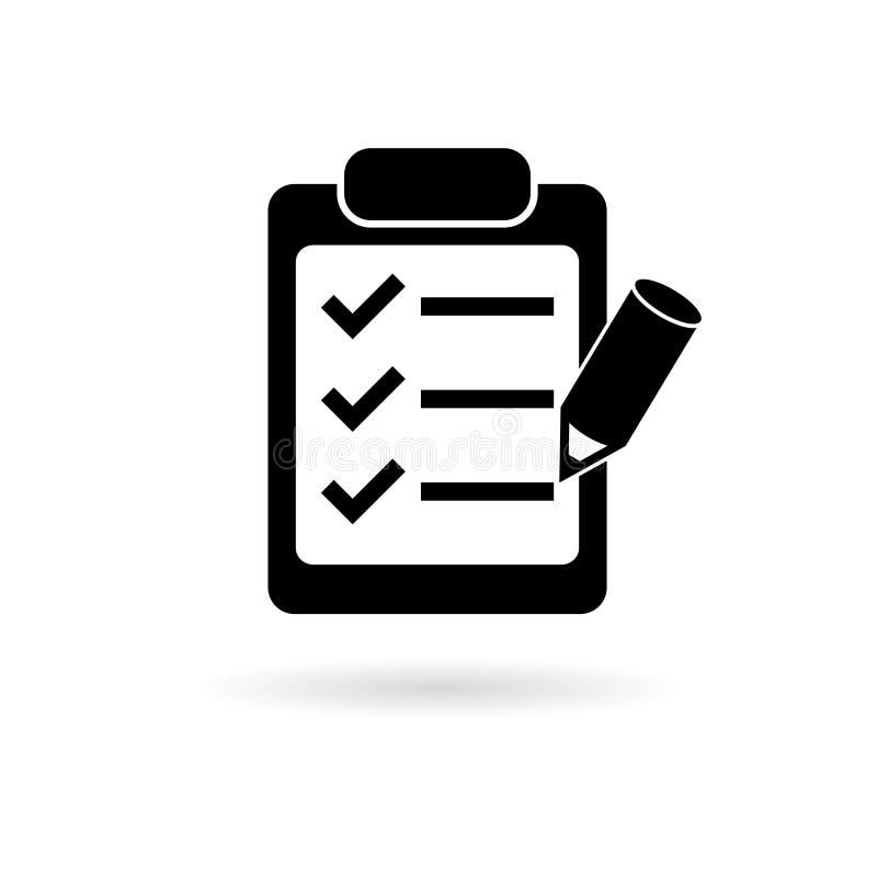 Clipboard and pencil icon vector illustration