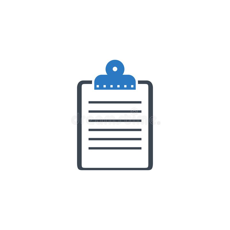 Clipboard related vector glyph icon. vector illustration