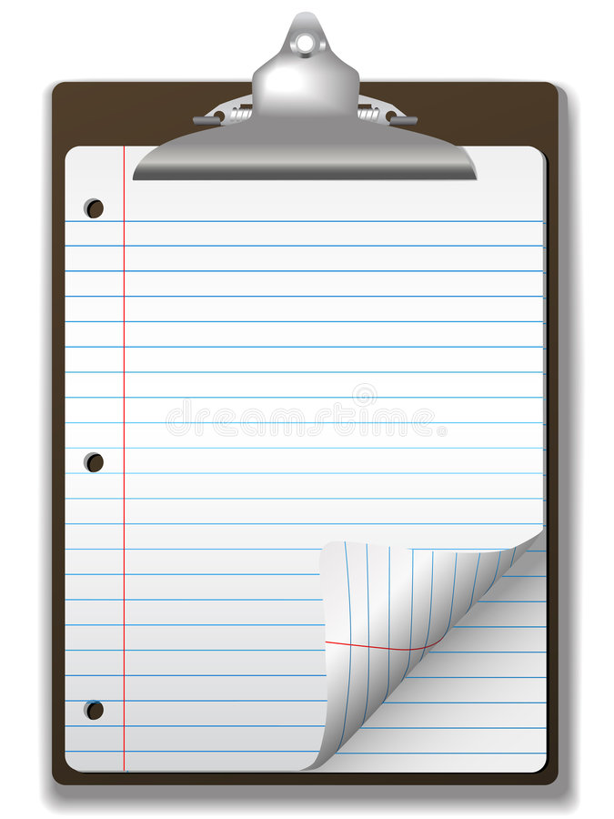 Free Clipboard School Ruled Notebook Paper Stock Photos - 4794773
