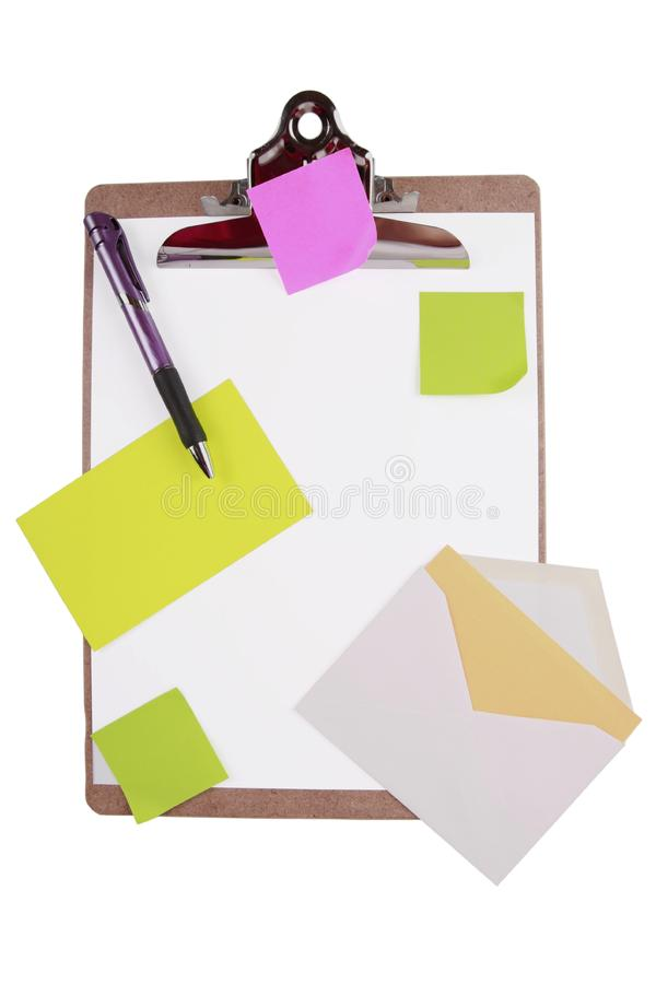 Download Clipboard With Sticky Notes And Cards Stock Image - Image: 7957273