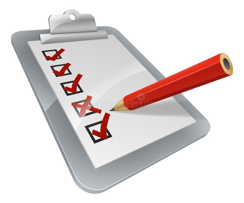 Clipboard survey vector illustration