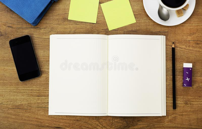 Clipboard on table royalty free stock photography