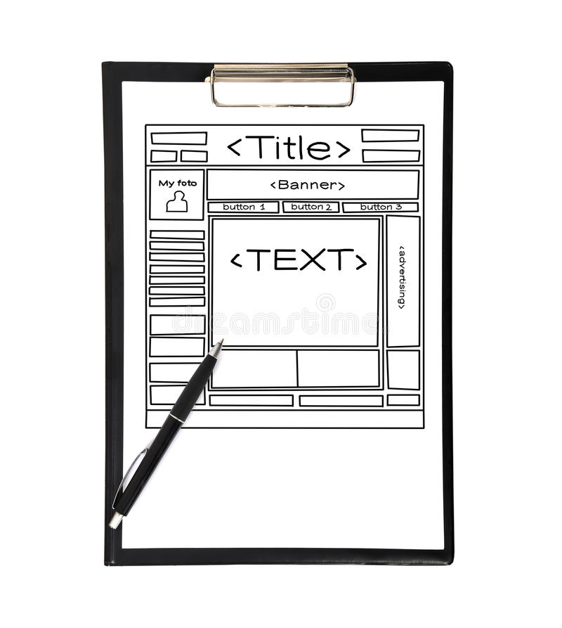 Download Clipboard With Template Web Page Stock Photo - Image: 33375330