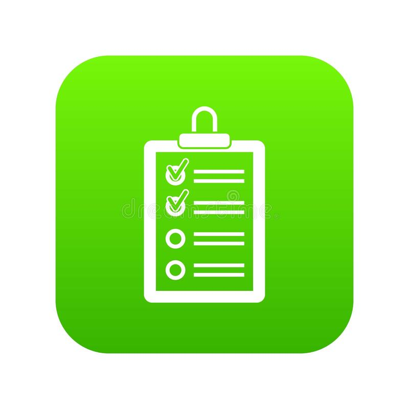 Clipboard with to do list icon digital green. For any design isolated on white vector illustration vector illustration