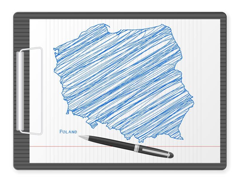 ClipboardPolen översikt vektor illustrationer