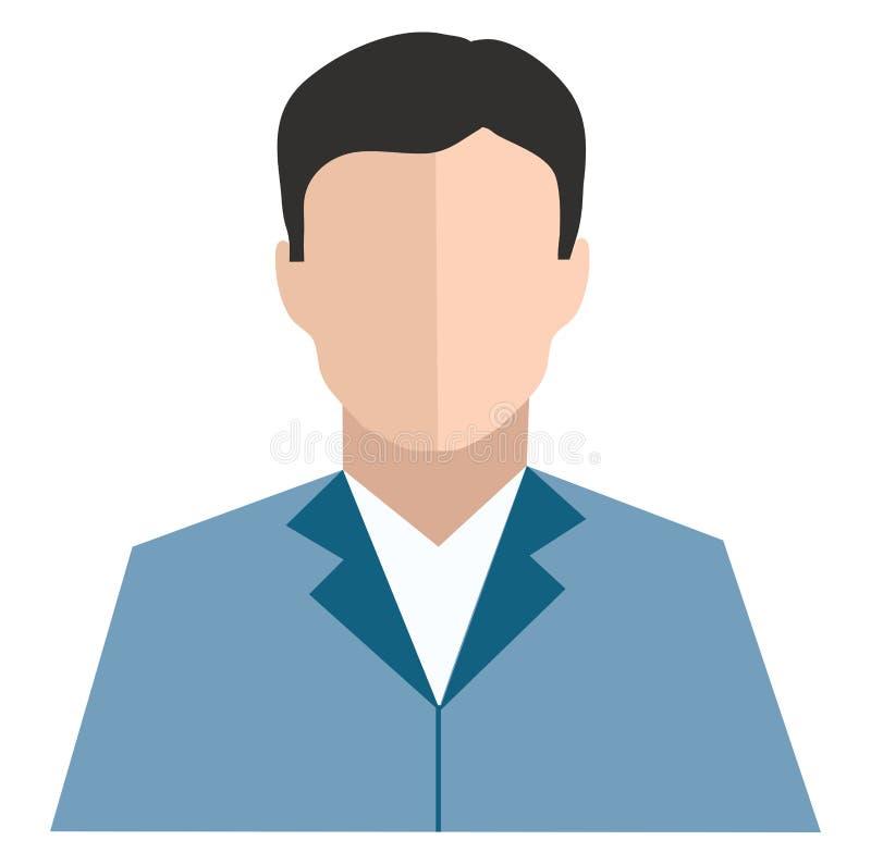 Clipe de um homem com vetor de fato de cor azul ou ilustração colorida ilustração do vetor