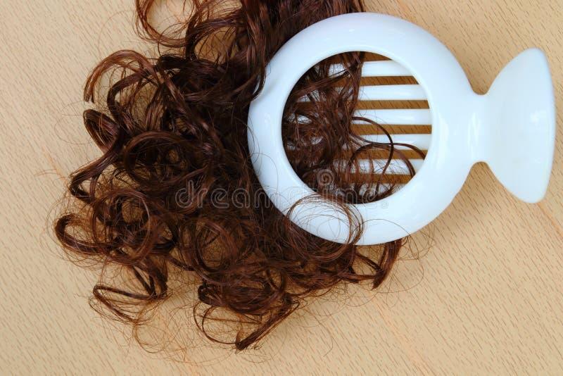Cliping卷毛头发 图库摄影