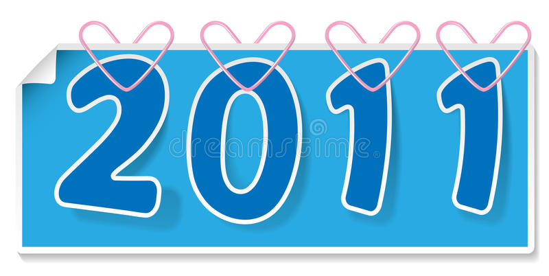 Download Clipped blue sign 2011 stock vector. Image of year, beginning - 18204225