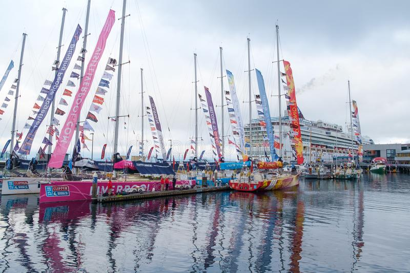 Clipper Round the World Yacht Race stock images