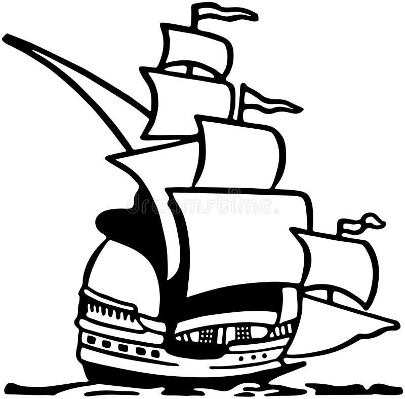 Clipper Ship royalty free illustration
