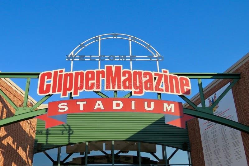 Clipper Tijdschriftstadion, huis aan de Acteurs op tournee van Lancaster royalty-vrije stock fotografie