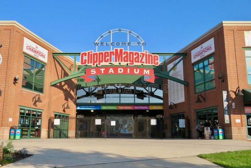 Clipper Tijdschriftstadion, huis aan de Acteurs op tournee van Lancaster stock foto's
