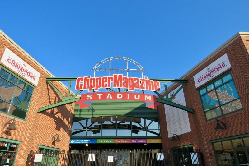 Clipper Tijdschriftstadion, Lancaster, PA stock afbeeldingen
