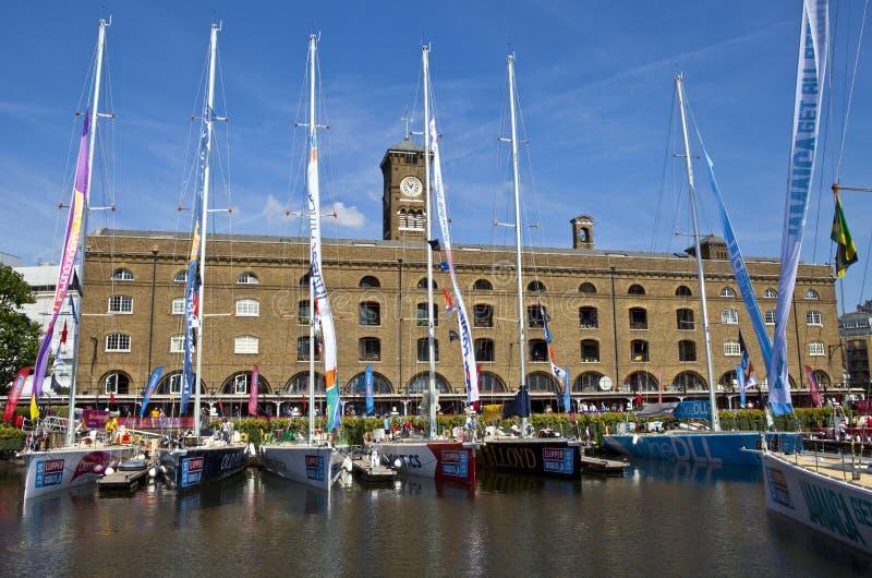 Clippers Hanno Attraccato Alla St Katherine Dock A Londra Immagine Stock Editoriale