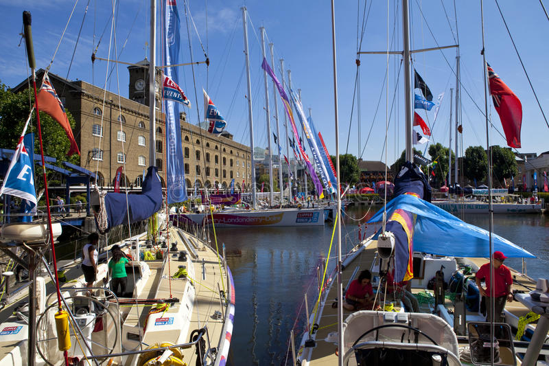 Download Clippers Moored At St Katherine Dock In London Editorial Image - Image of kingdom, great: 33267330