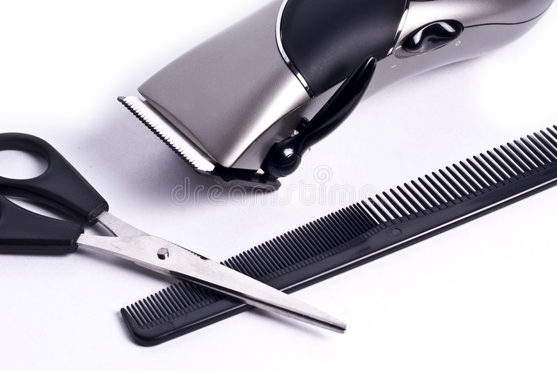 Clippers and scissors stock photos