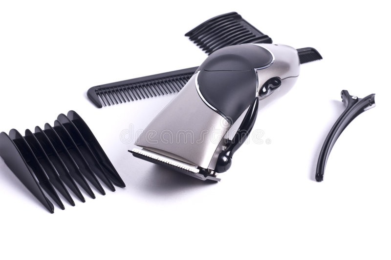Clippers and scissors royalty free stock image