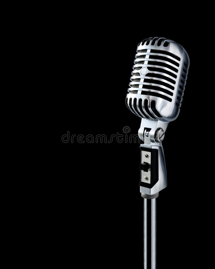 clipping microphone path retro arkivbild