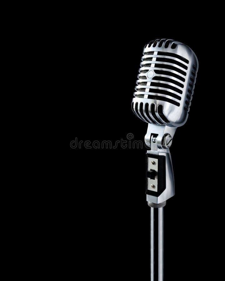 clipping microphone path retro 图库摄影