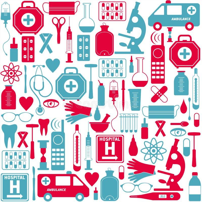 clippingen innehåller seten för banan för den digitala symbolsillustrationen den medicinska stock illustrationer
