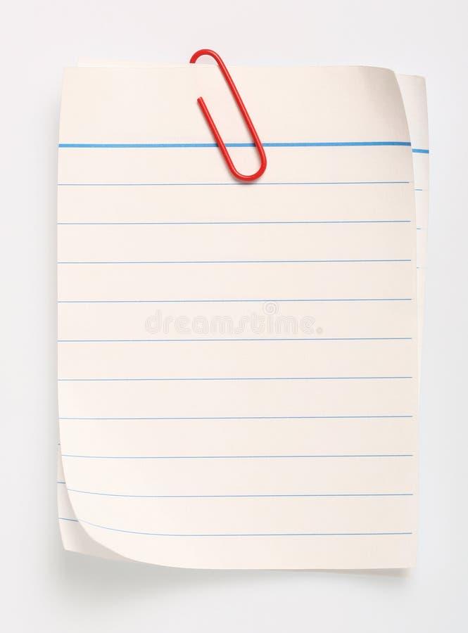 clippinglinje paper bana arkivbild